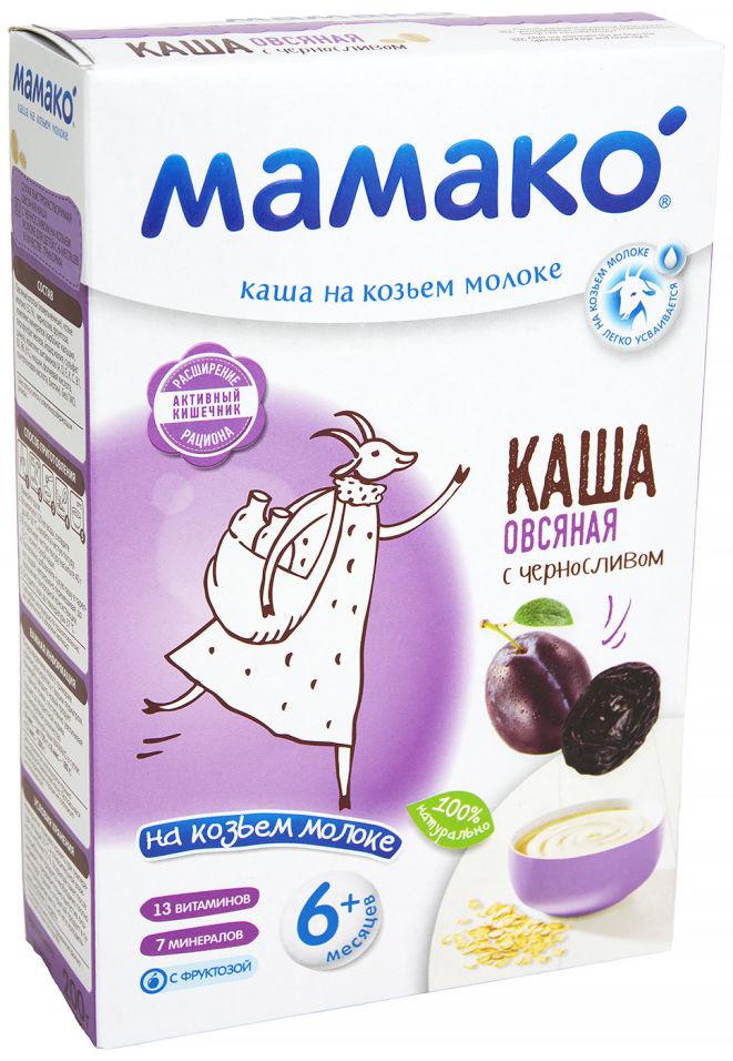 Каша Мамако Овсяная с черносливом на козьем молоке с 6 месяцев 200г (упаковка 2 шт.)