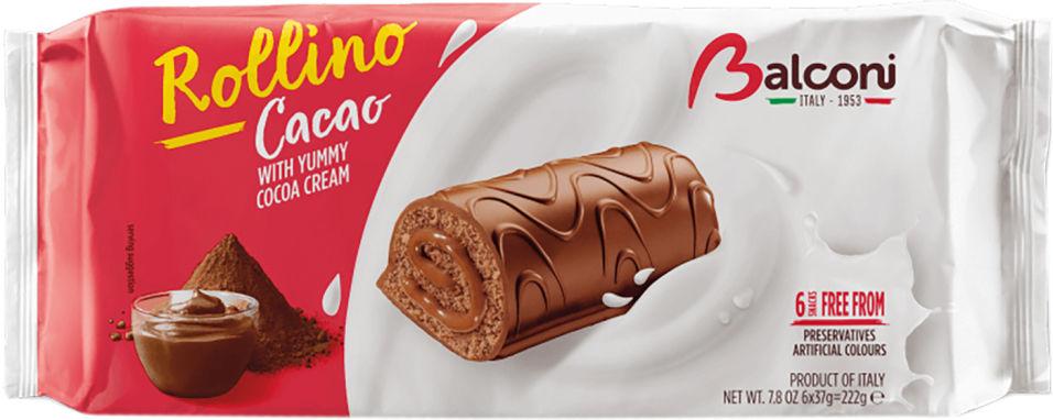 Рулет Balconu Бисквитное Cacao 222г