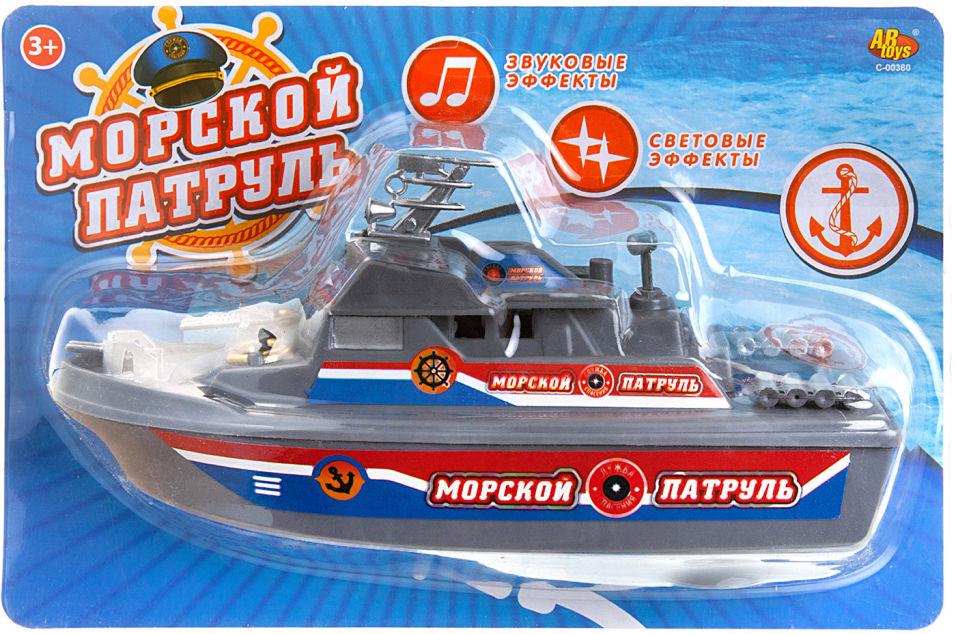 Катер ABtoys Морской патруль со световыми и звуковыми эффектами