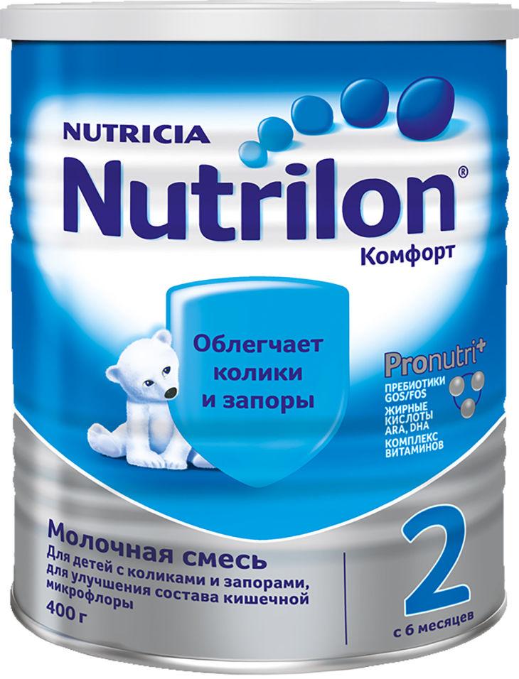 Смесь Nutrilon Комфорт 2 С 6 месяцев 400г (упаковка 2 шт.)