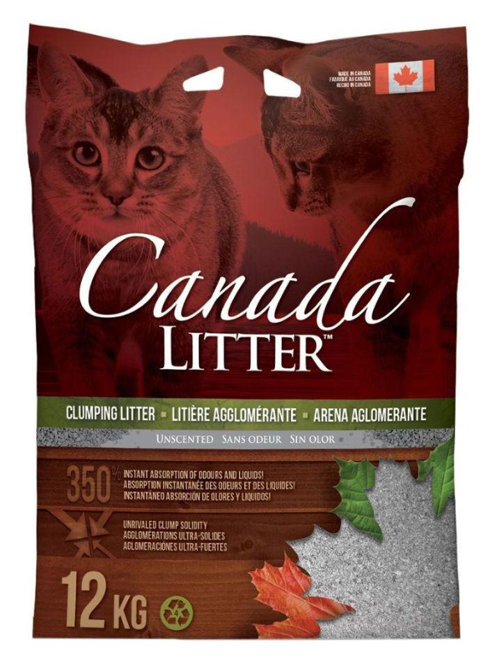 Наполнитель для кошачьего туалета Canada Litter с ароматом лаванды 12кг