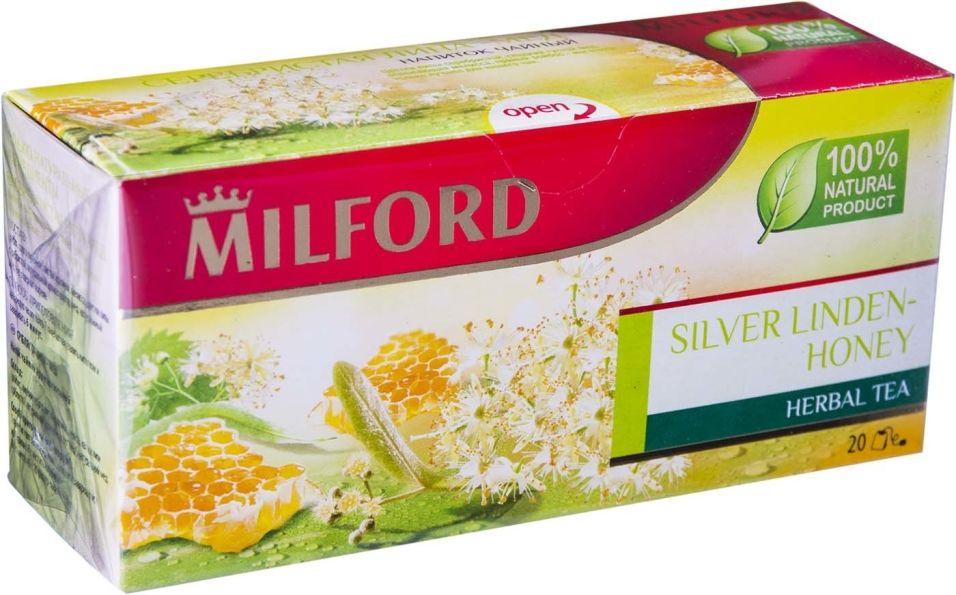 Чай травяной Milford Silver Linden-Honey 20 пак (упаковка 3 шт.)