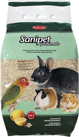 Наполнитель для грызунов Padovan Sanipet profumato Кукурузные гранулы 10л 5кг