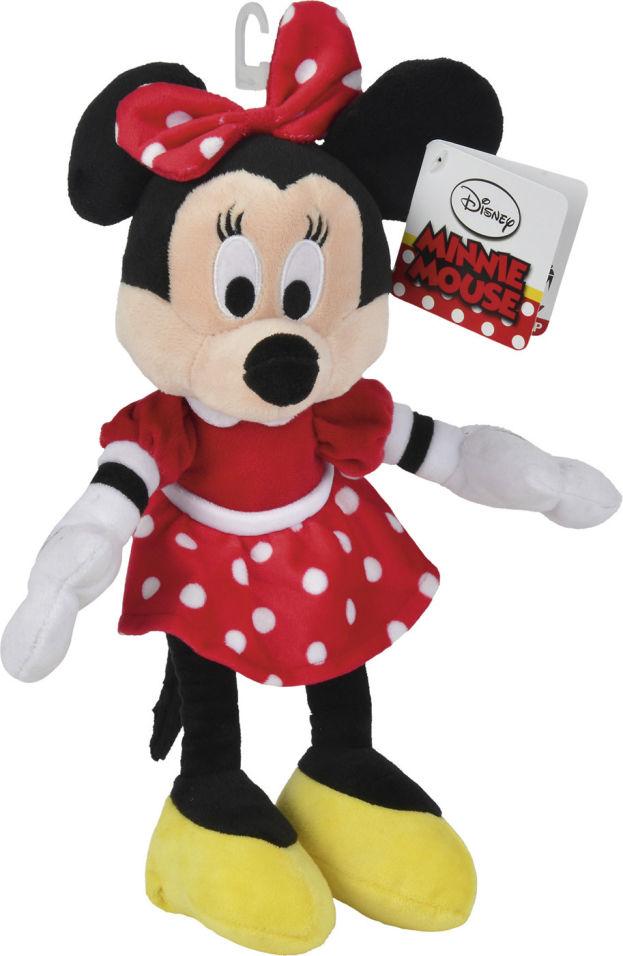 Мягкая игрушка Nicotoy Минни Маус в красном платье 25см