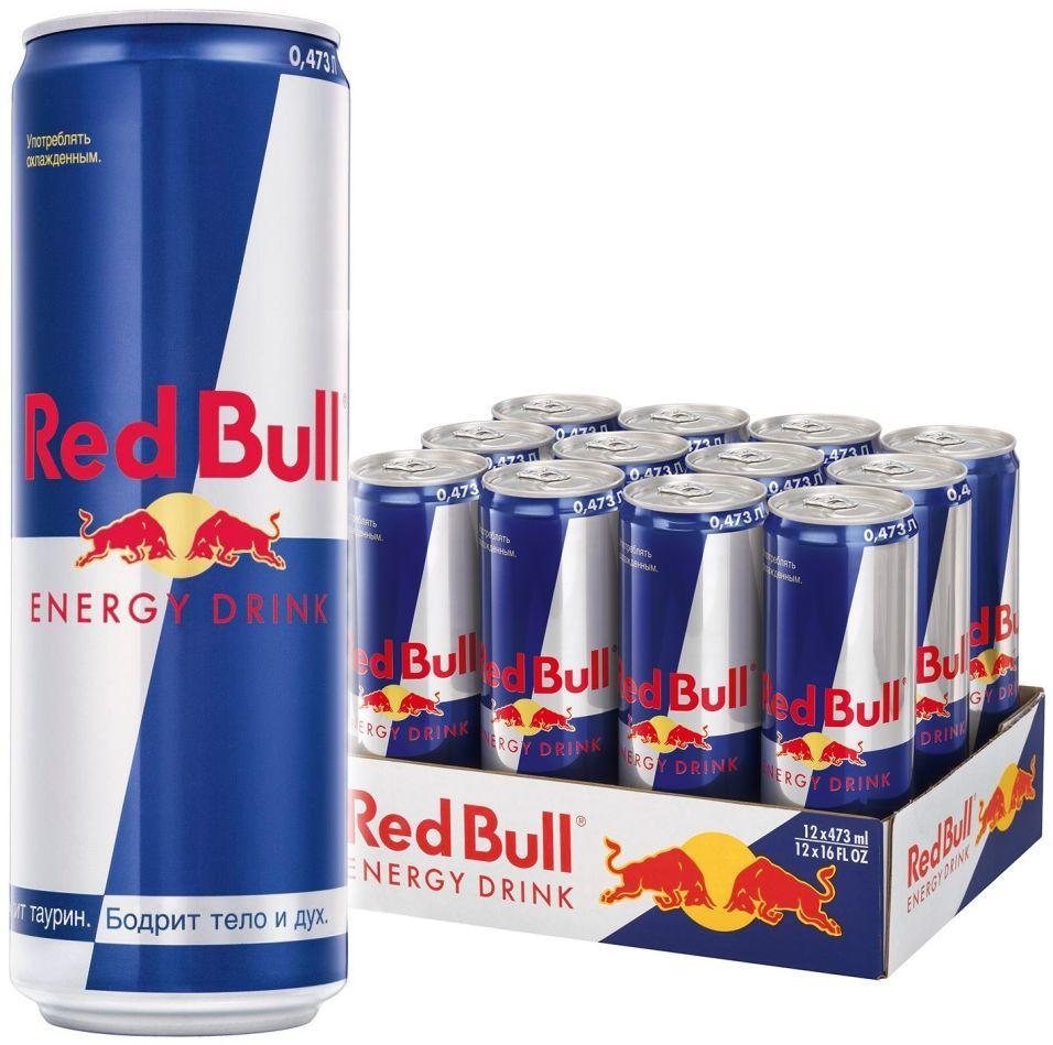 Напиток Red Bull энергетический 473мл (упаковка 12 шт.)