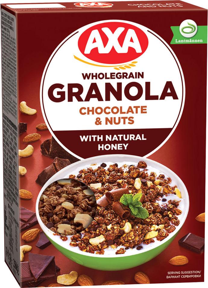 Мюсли Axa Медовые с шоколадом и орехами 250г