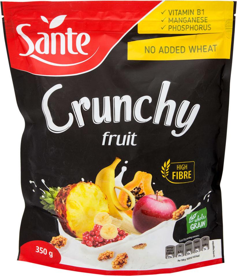 Хлопья Sante Crunchy Овсяные с фруктами 350г