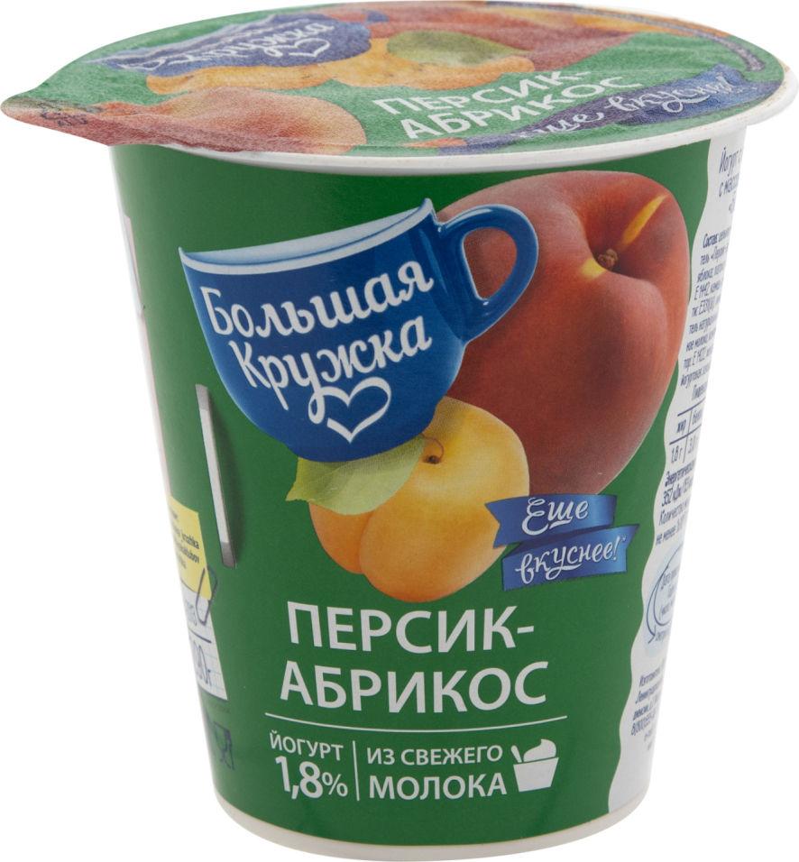 Отзывы о Йогурте Большая Кружка персик-абрикос 1.8% 290г