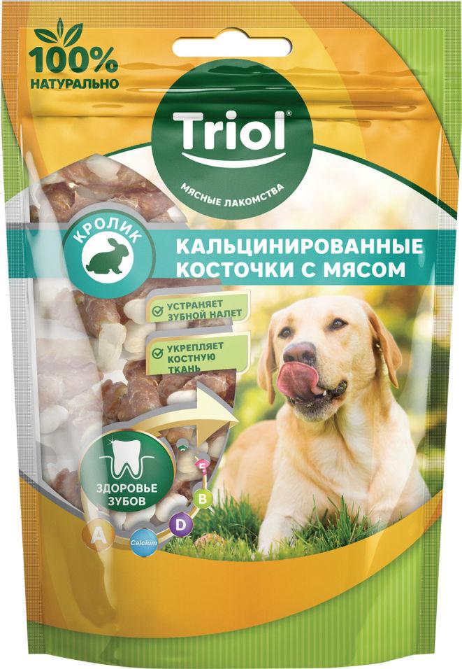 Лакомство для собак Triol Кальцинированные косточки с Кроликом 70г