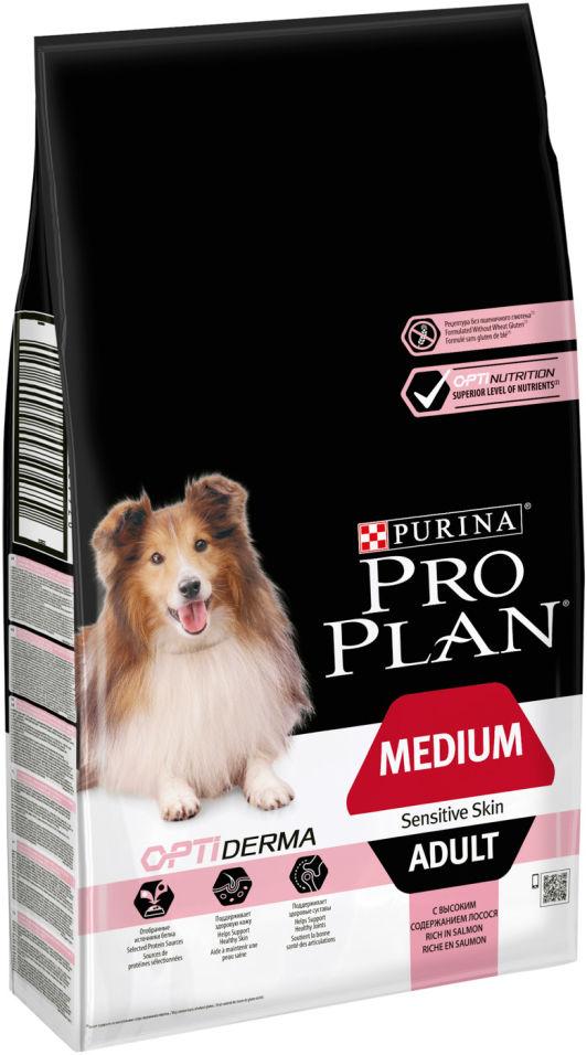 Сухой корм для собак Pro Plan Optiderma Medium Adult Sensitive с лососем и рисом 7кг