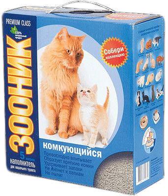 Отзывы о Наполнителе для кошачьего туалета Зооник люкс комкующийся 5л