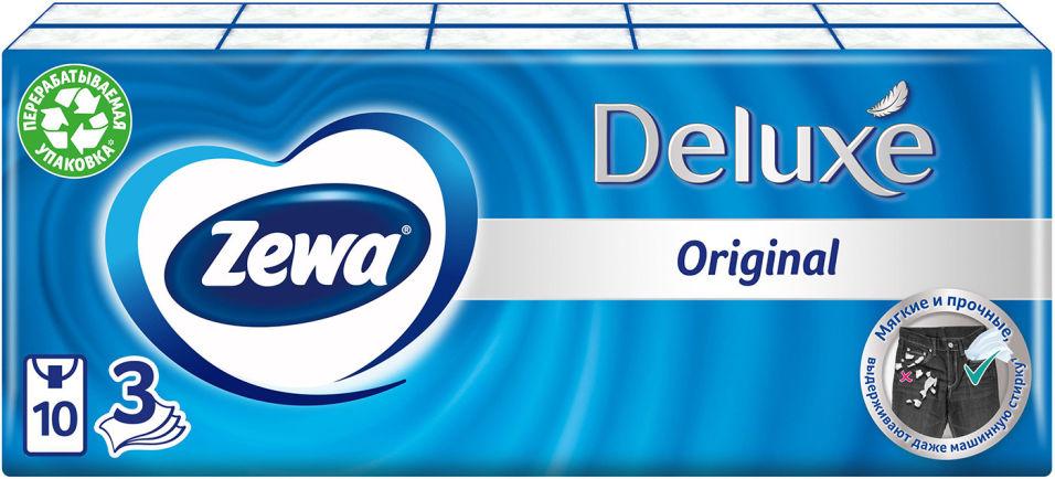 Отзывы о Носовые платки Zewa Deluxe 10*10шт