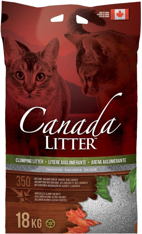 Наполнитель для кошачьего туалета Canada Litter Лаванда комкующийся 18кг