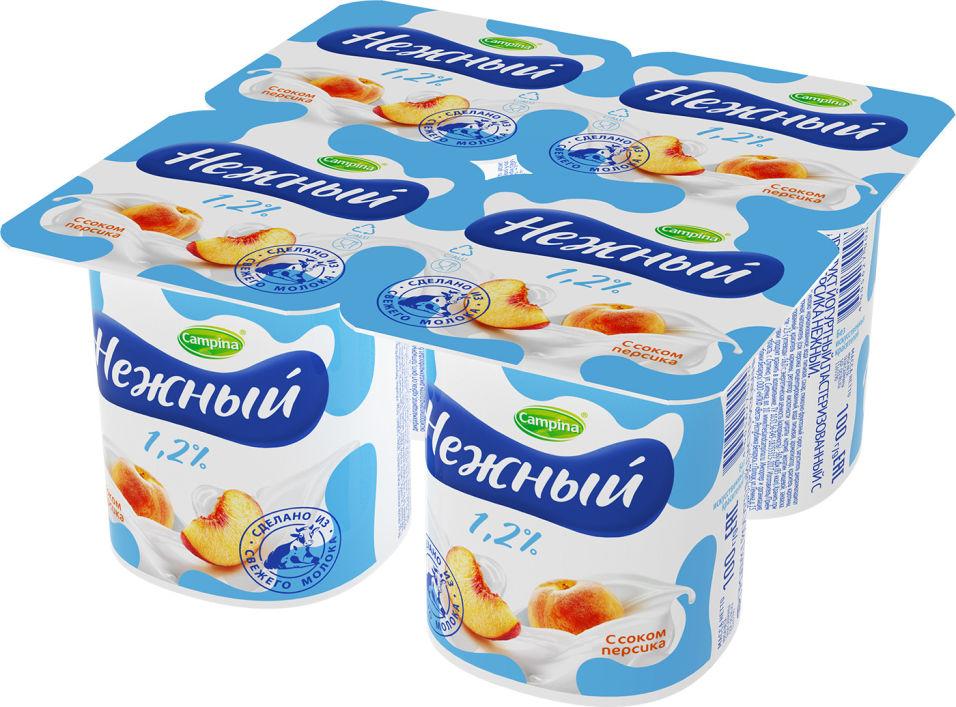 Отзывы о Продукте йогуртном Campina Нежном с соком персика 1.2% 4шт*100г