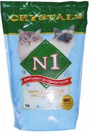Наполнитель для кошачьего туалета Наполнитель №1 силикагелевый 5л