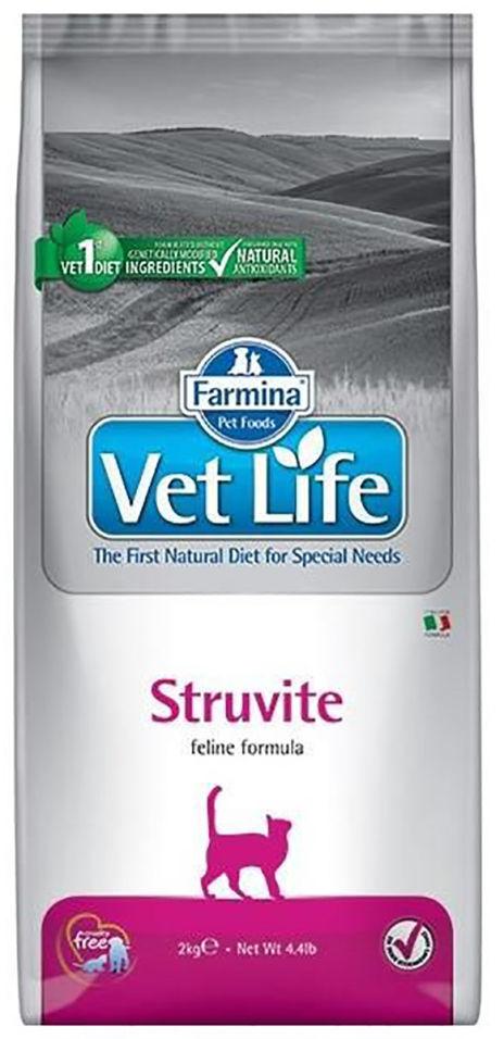 Корм для кошек Farmina Vet Life Struvite при мочекаменной болезни струвитного типа 2кг
