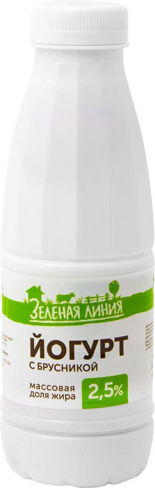 Отзывы о Йогурте питьевом Маркет Зеленая линия с брусникой 2.5% 500г