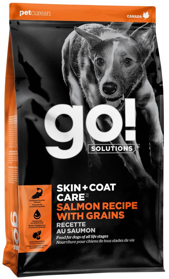 Сухой корм для щенков и собак Go! Skin+Coat Care с лососем и овсянкой 11.34кг