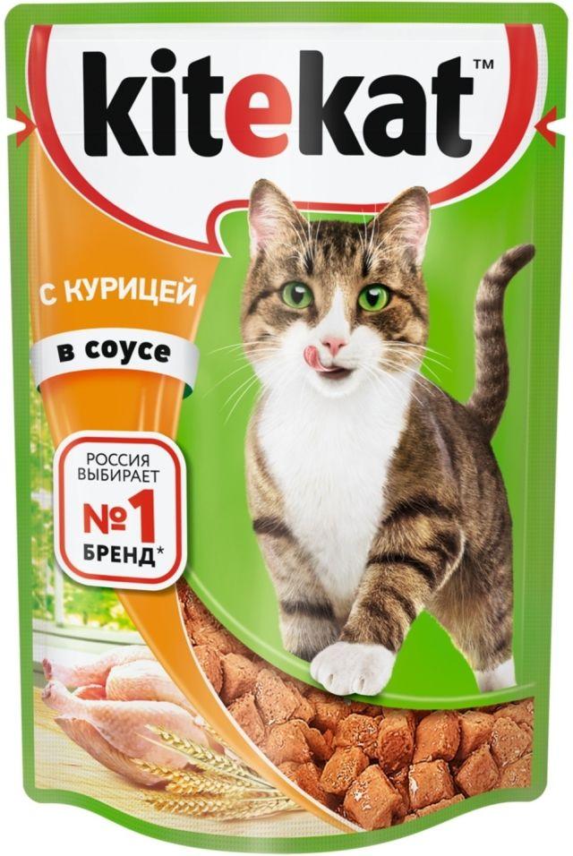 Отзывы о Корме для кошек Kitekat с курицей в соусе 85г