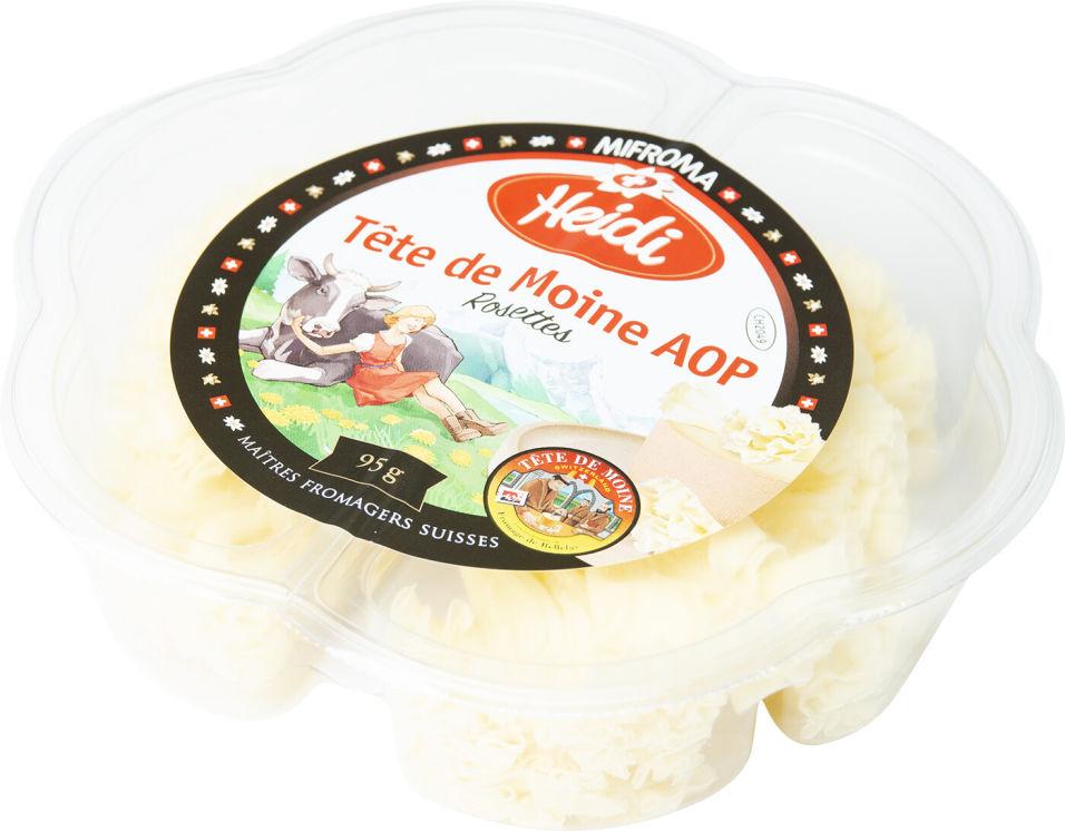 Отзывы о Сыре Heidi Тет де Муан нарезка 53% 95г