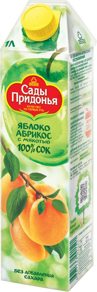 Сок Сады Придонья Яблоко-абрикос с мякотью 1л