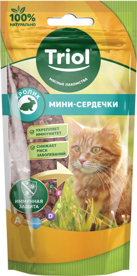 Лакомство для кошек Triol Мини-сердечки из кролика 40г