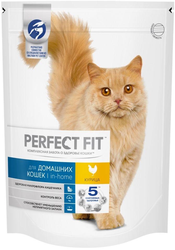 Сухой корм для кошек Perfect Fit In-Home с курицей 650г