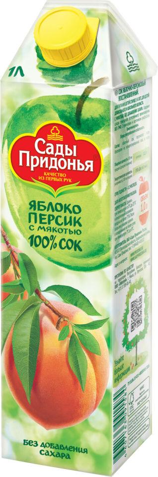 Сок Сады Придонья Яблоко-персик с мякотью 1л
