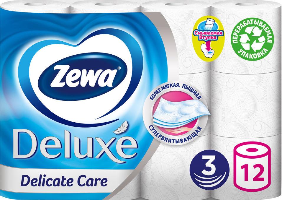 Отзывы о Туалетной бумаге Zewa Deluxe 12 рулона 3 слоя в ассортименте