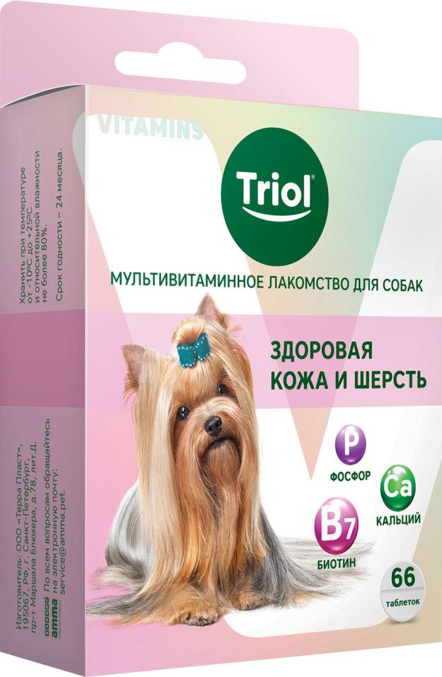 Лакомство для собак Triol Здоровая кожа и шерсть 30г