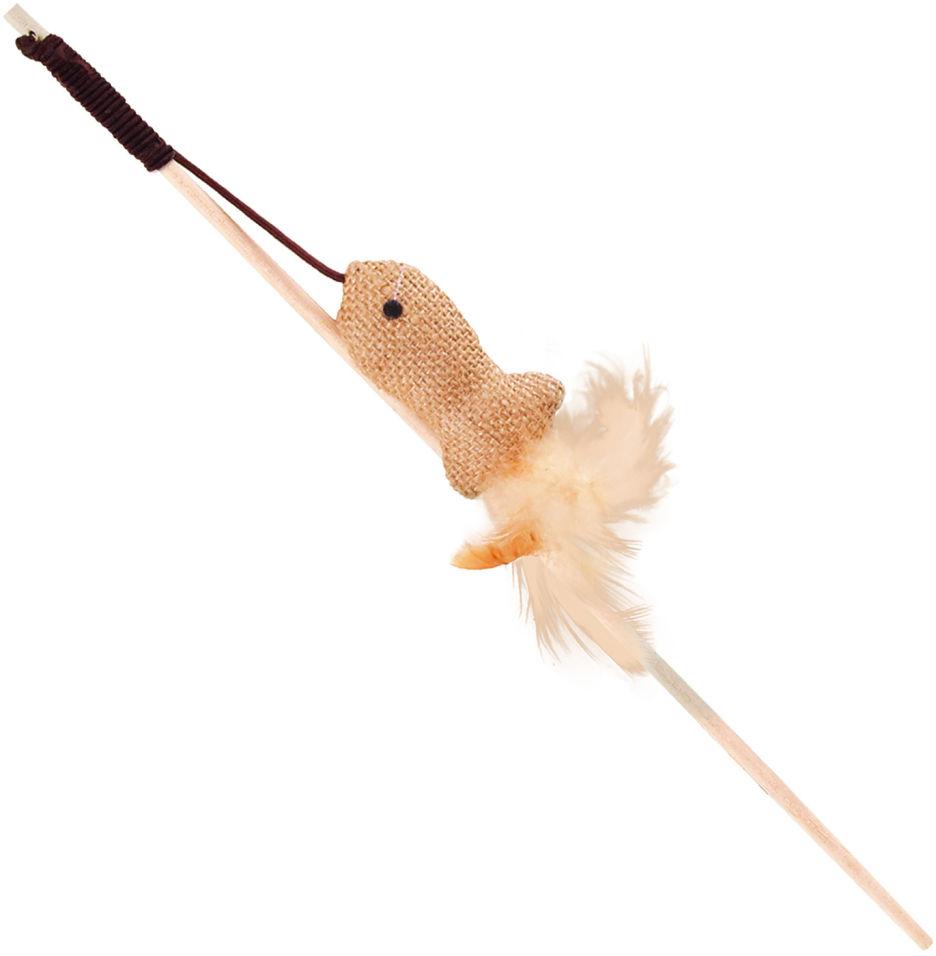 Игрушка для кошек Triol Дразнилка Рыбка из натуральных материалов