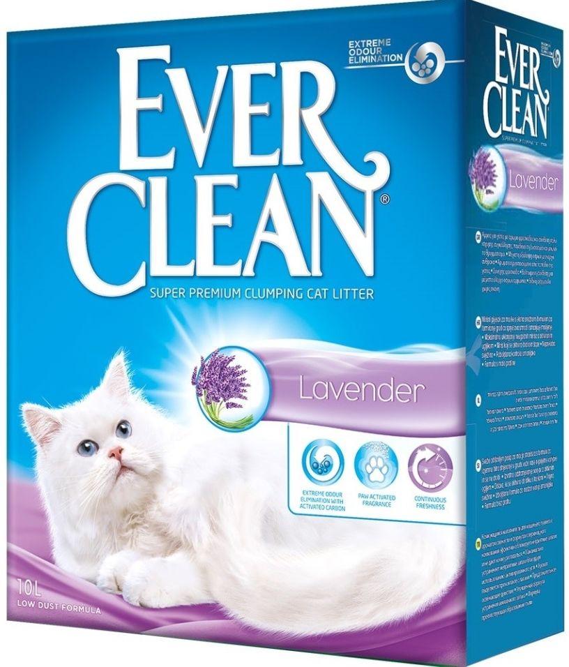 Отзывы о Наполнителе для кошачьего туалета Ever Clean Lavender с ароматом лаванды 10л