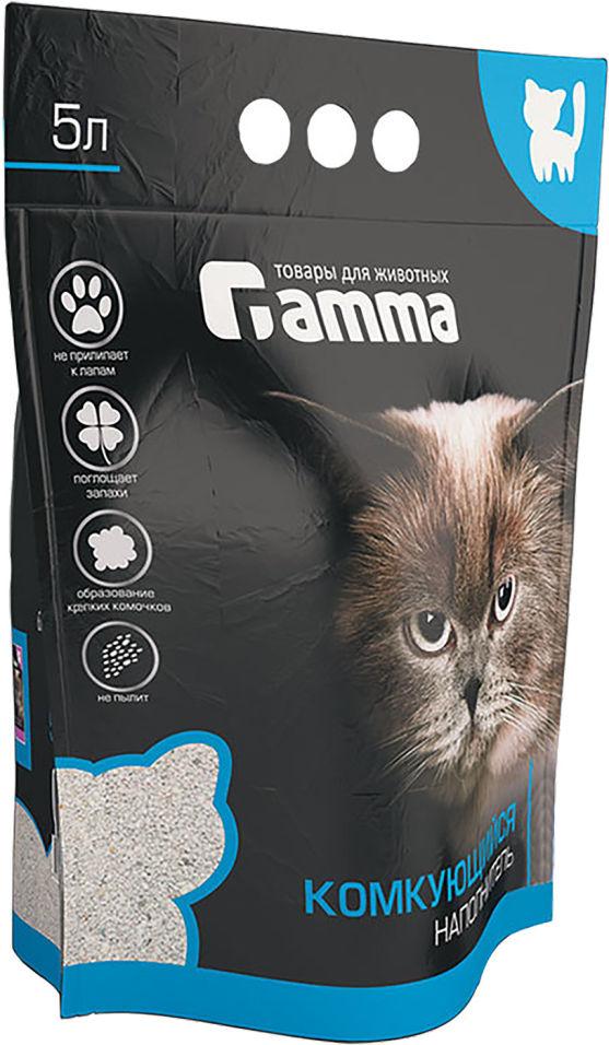 Наполнитель для кошачьего туалета Gamma бентонитовый 5л