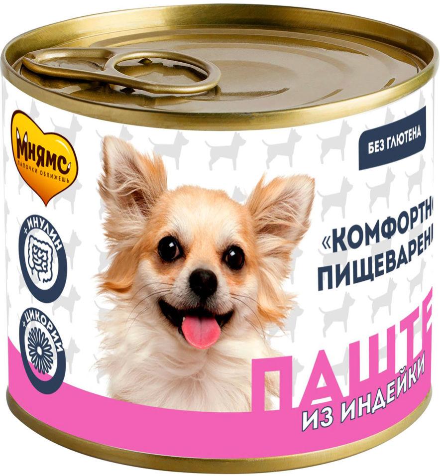 Корм для собак Мнямс Комфортное Пищеварение Паштет из индейки 200г