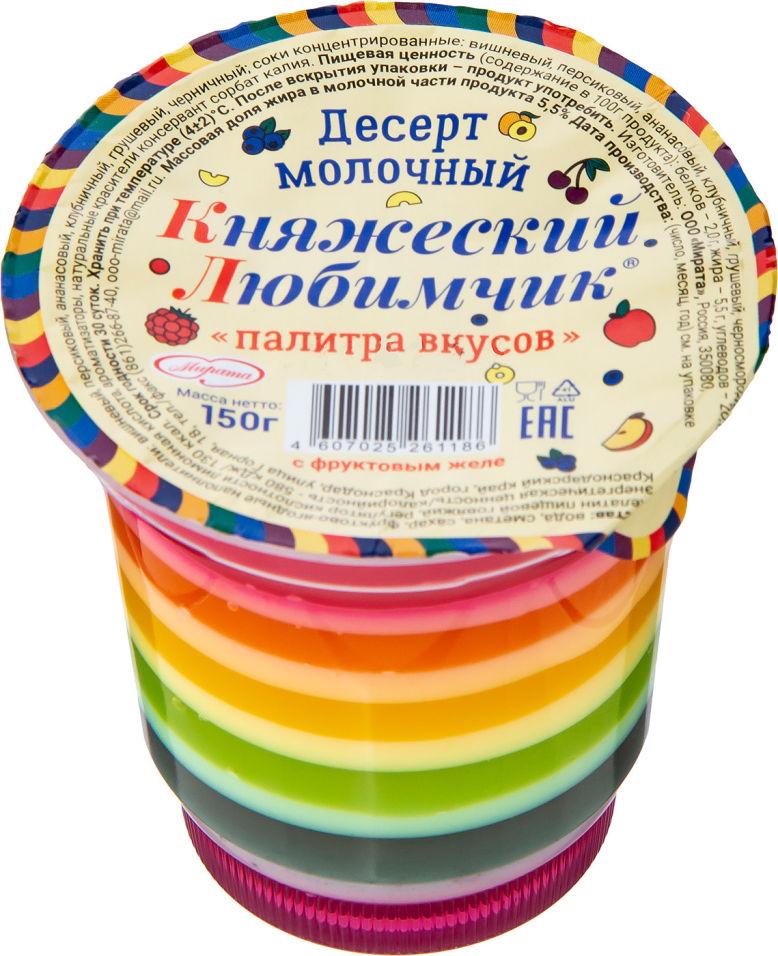 Отзывы о Десерте молочном Княжеском Любимчик палитра вкусов 150г