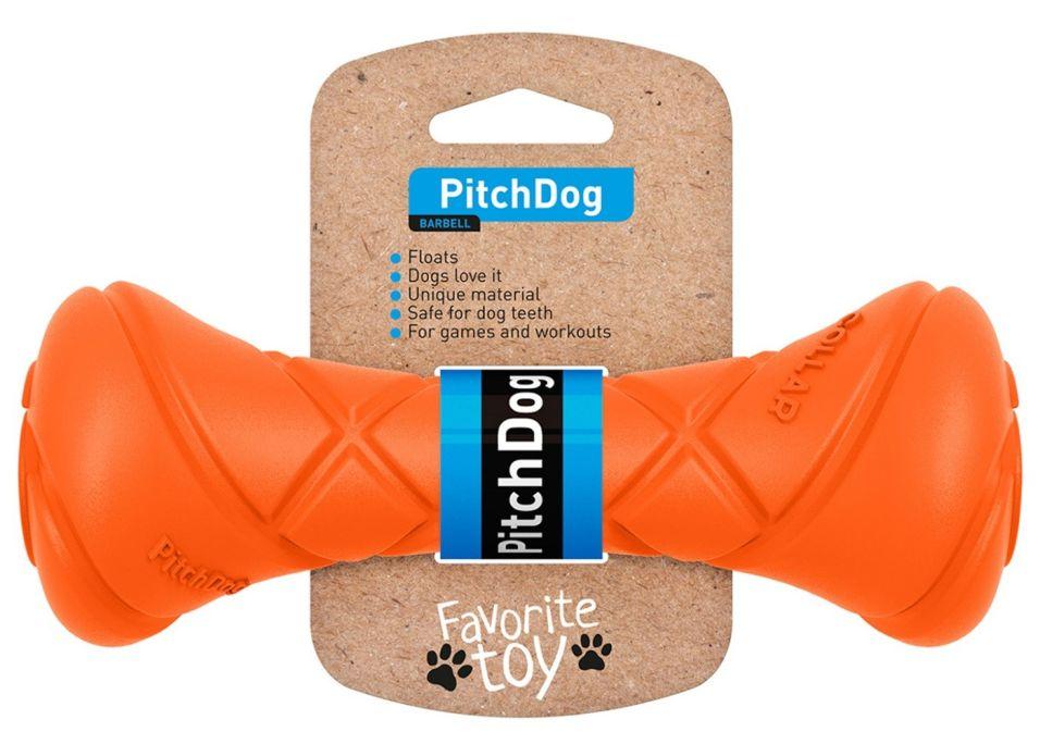 Игрушка для собак Collar PitchDog Гантель для апортировки оранжевая