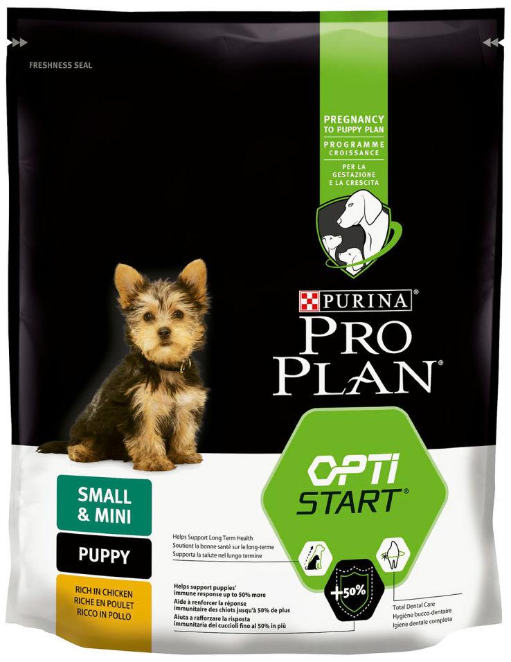 Сухой корм для щенков Pro Plan Optistart Small&Mini Puppy с курицей и рисом 700г