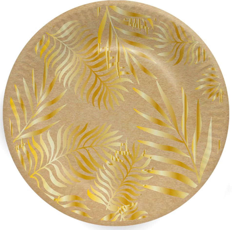 Тарелки бумажные Gratias Папоротник d23 6шт