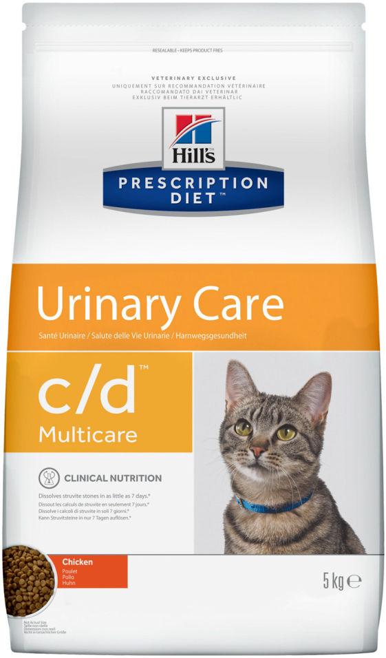 Отзывы о Сухой корм для кошек Hills Prescription Diet c/d для лечения и профилактики МКБ с курицей 5кг