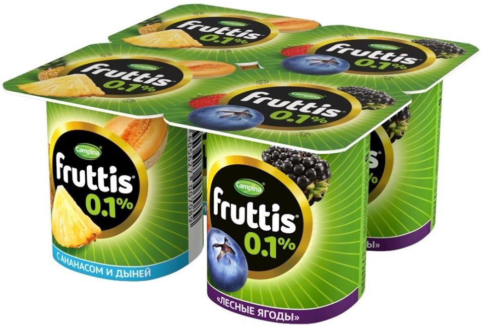 Отзывы о Продукте йогуртном Fruttis Легком Ананас-Дыня и Лесные ягоды 0.1% 4шт*110г