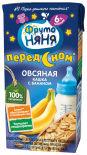 Каша ФрутоНяня Молочно-овсяная с бананом с 6 месяцев 200мл