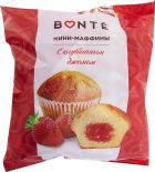 Мини-маффины Bonte с клубничным джемом 432г