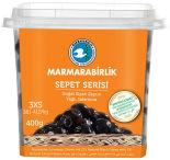 Оливки Marmarabirlik черные 3XS 410г