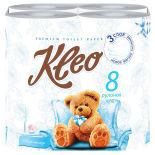 Туалетная бумага Kleo Ultra 8 рулонов 3 слоя