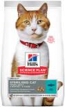 Сухой корм для стерилизованных кошек и кастрированных котов Hills Science Plan Sterilised Cat с тунцом 1.5кг