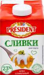Крем сливочный President Сливки для соуса 23% 500г