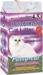 Наполнитель для кошачьего туалета Pussy-Cat комкующийся 4.5л
