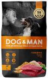 Сухой корм для собак Dog&Man для взрослых собак крупных пород с говядиной 2кг