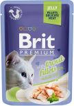 Корм для кошек Brit Premium Форель желе 85г
