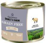 Корм для собак Dukes Farm Grain free Ягненок клюква шпинат 200г